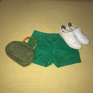 Loft Green Oxford Shorts Sz 00
